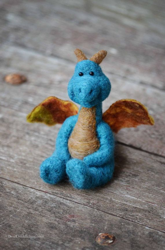 Bear Creek Dragon #6 needle felted by Teresa Perleberg