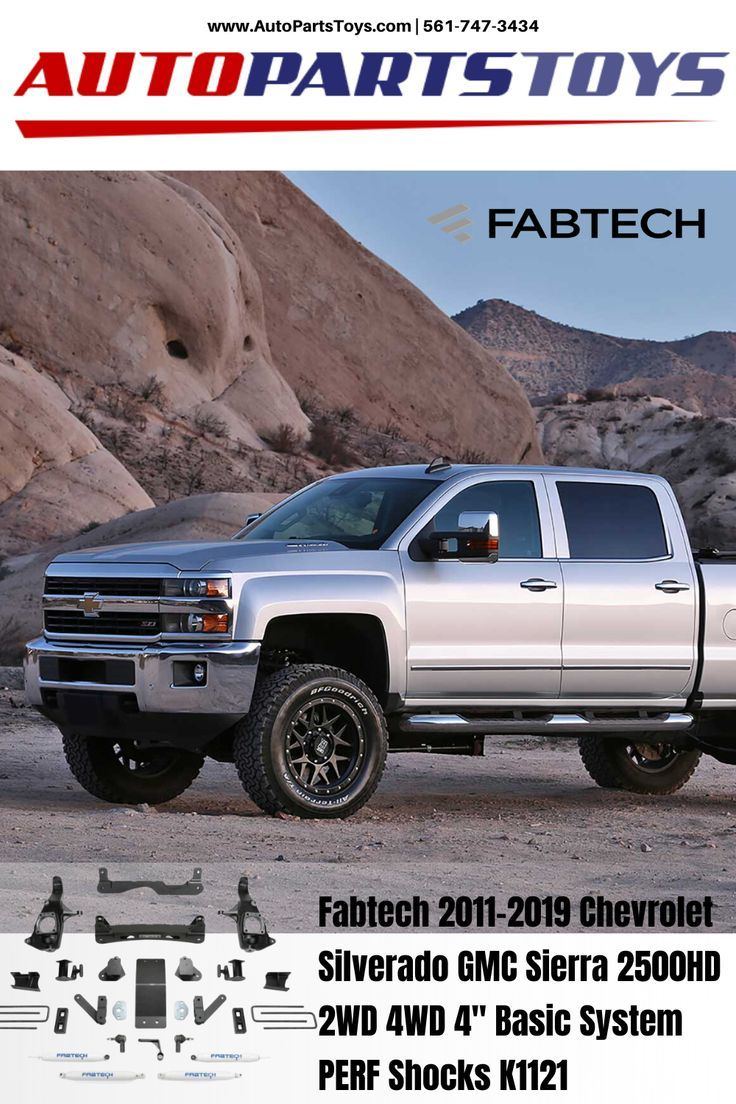 Fabtech 20112019 Chevrolet Silverado GMC Sierra 2500HD