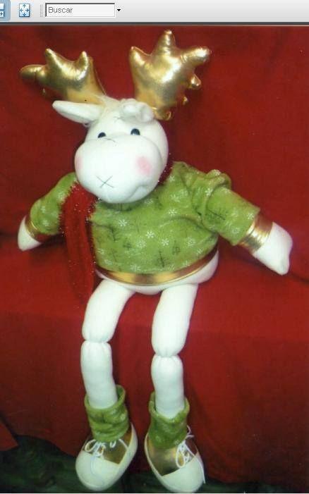 Muñeco navideño, hecho a mano de tela polar. mide 60 cm aprox.