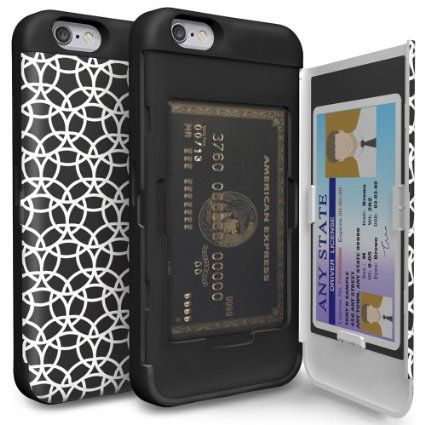 Amazon.com: iPhone 6S Case, TORU [CX PRO] iPhone 6 Wallet Case - [CARD SLOT][ID HOLDER][KICKSTAND] Protective Hidden Wallet Case with Mirror for iPhone 6/6S - Circle Geo: Cell Phones & Accessories