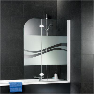Schulte Badewannenaufsatz Duschmeister 303, 2-teilig Dekor Liane