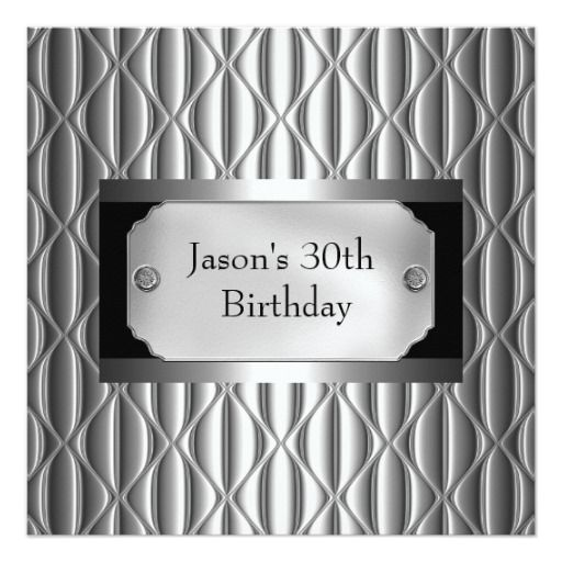Mens 30th Metal Chrome Black White Style Silver