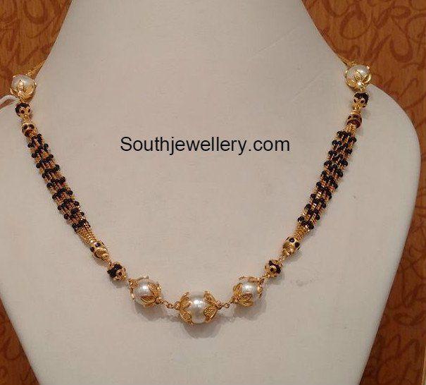 Light Weight Black Beads Mangalsutra