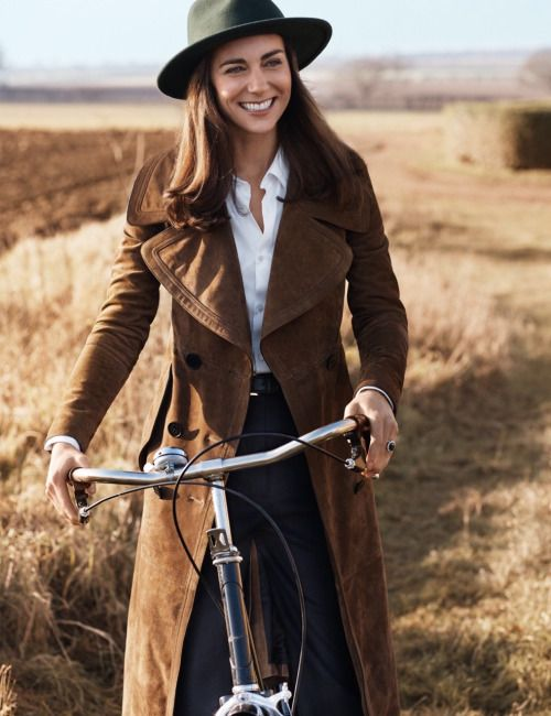 HRH: The Duchess of Cambridge by Josh Olins for Vogue UK June 2016 Centenary issue - Coat and skirt, Burberry. Hat - Vintage, Beyond Retro - Shot in Norfolk, UK
