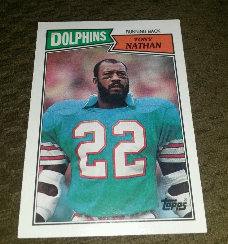 1987 topps tony nathan nearly flawless great 4 any collection ships fast! from $1.5
