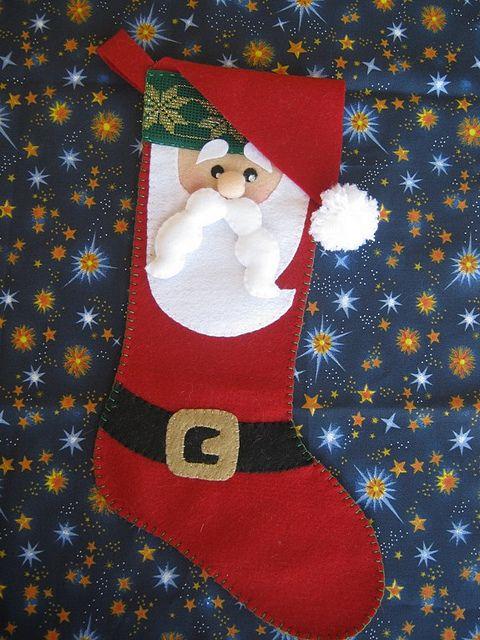 felt santa stocking