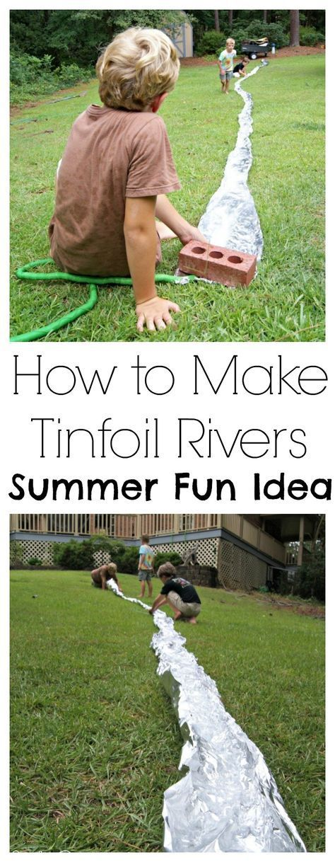 Tin foil rivers = awesome fun Use the tinfoil in another activity after the river is done like make costumes or objects