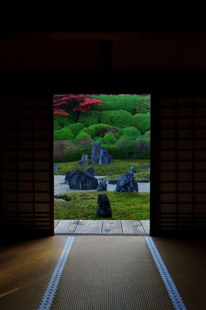 Japanese garden at Komyo-in temple, Kyoto, Japan                                                                                                                                                      もっと見る