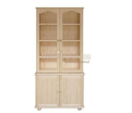 Witryna drewniana sosnowa [37] Meble Drewniane - meble sosnowe producent, łóżka, komody, witryny