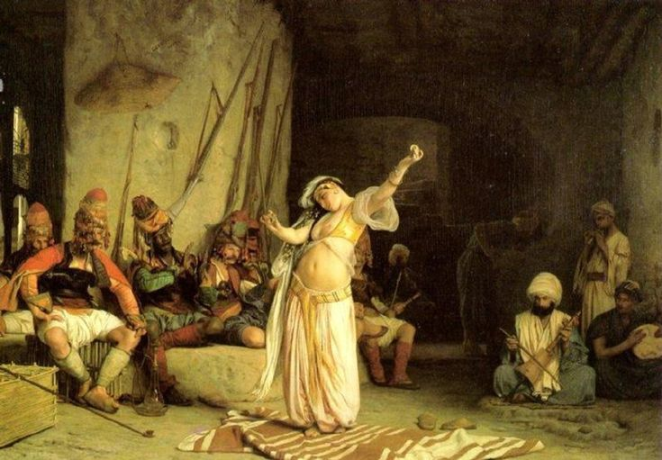 Jean-Leon Gerome (Jean Leon Gerome) (1824-1904) The Dance of the Almeh Oil on panel, 1863 63 x 84.3 cm (24.8