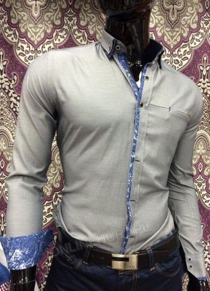 Koszula Męska Sedna SED8812  _A11 (M-3XL) SZARY