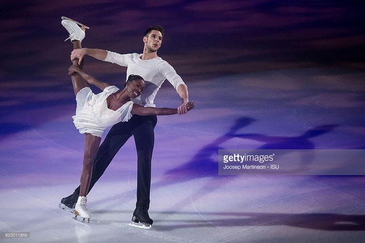 Vanessa James and Morgan Cipres of France perform...