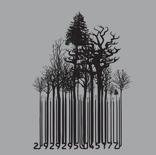 barcode forest by Kate Widdows, via Behance