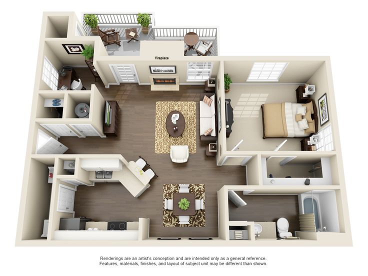 Apartment & Townhome Layouts | The Residences on McGinnis Ferry