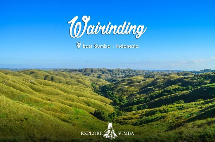 Looking to the green wide open of Wairinding hill is a spectacular view. The refreshing breeze lets you cool down for a minute and relax. Breathe in the fresh air and walk around or sit down and watch a beautiful sunset. Let us take you there and Explore Sumba with us.    www.exploresumba.com