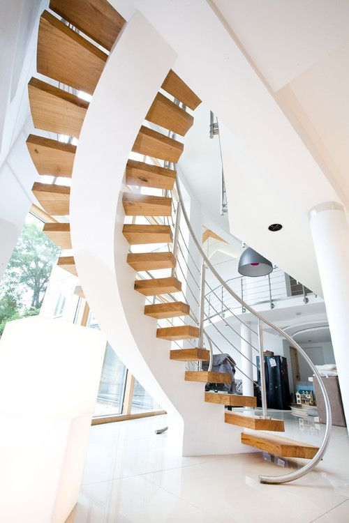 Contemporary staircase, York, London