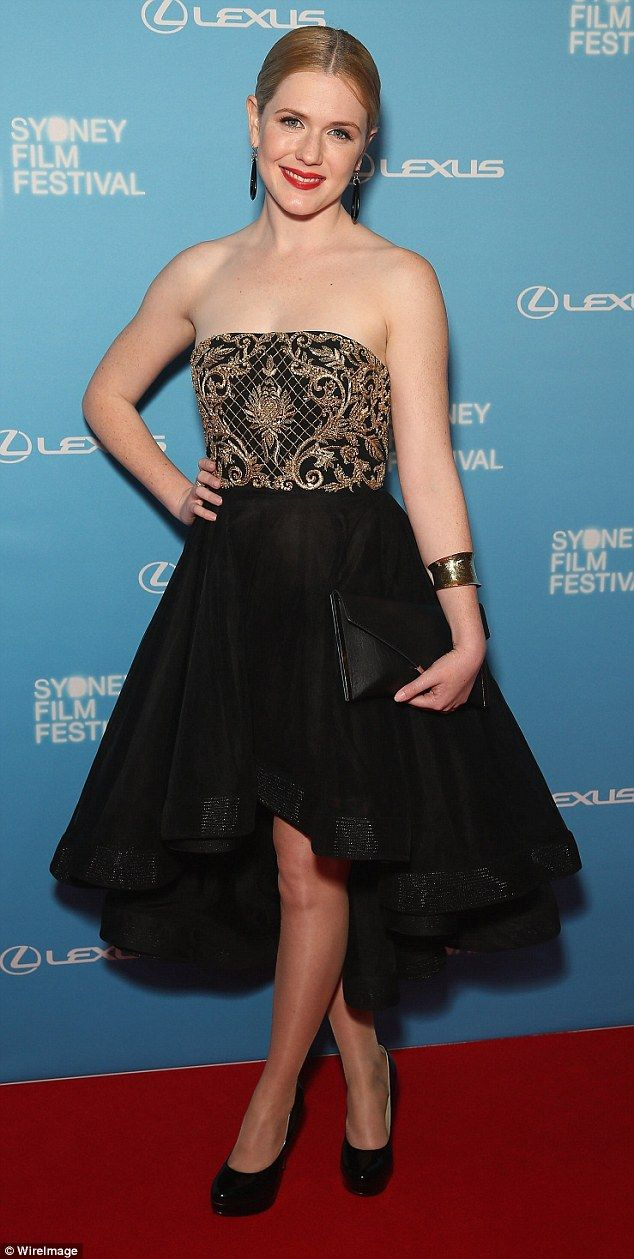 Celebrity Harriet Dyer wears Philippa Galasso at the opening of the Sydney Film Festival 2015