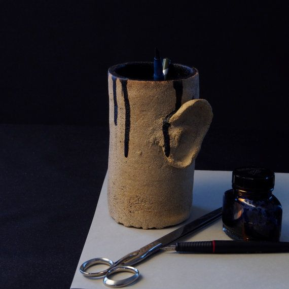 A Jar with Ears, a strange jar. Made by Juri Etto, sold on Etsy.