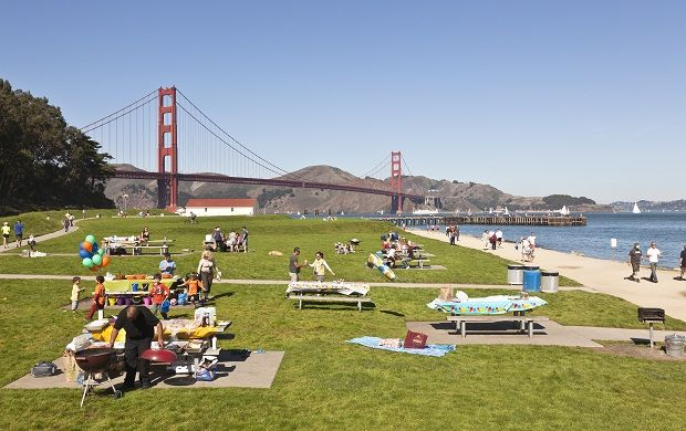 "Crissy Field: Crissy Field: Imagine the perfect day...picnic in the park, walking along the beach, and postcard views of the Golden Gate Bridge. PRO TIP: Check out ""Off the Grid: Picnic at the Presidio"" on Sundays from 11a-4p for amazing local food, lawn games, music, and more: http://offthegridsf.com/picnic"