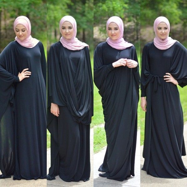 one abaya in many styles, Stylish hijabi street styles http://www.justtrendygirls.com/stylish-hijabi-street-styles/