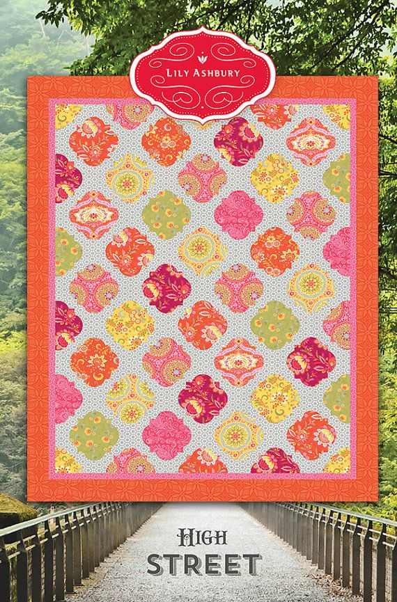 High Street Medallion Quilt Pattern by Lily Ashbury for