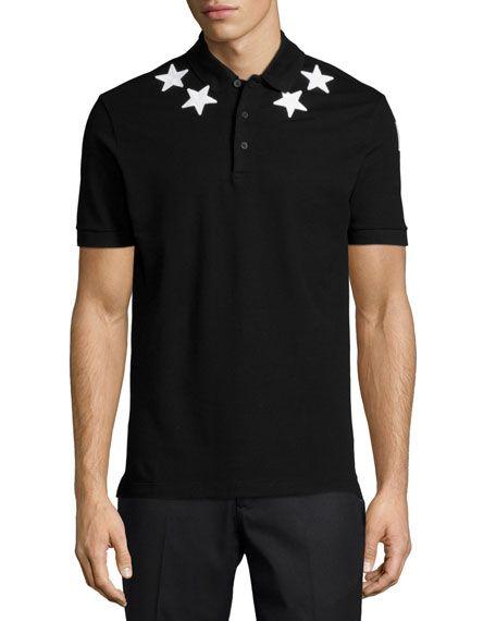 f105a9048b3 GIVENCHY Cuban Star-Print Polo Shirt, White.  givenchy  cloth ...