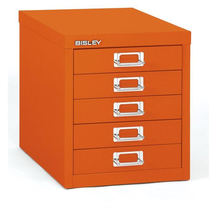 Bisley Steel 5-Drawer Desktop Multidrawer Storage Cabinet - MD5-OR