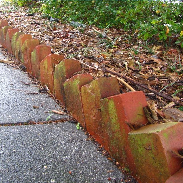 Angled Brick Edging