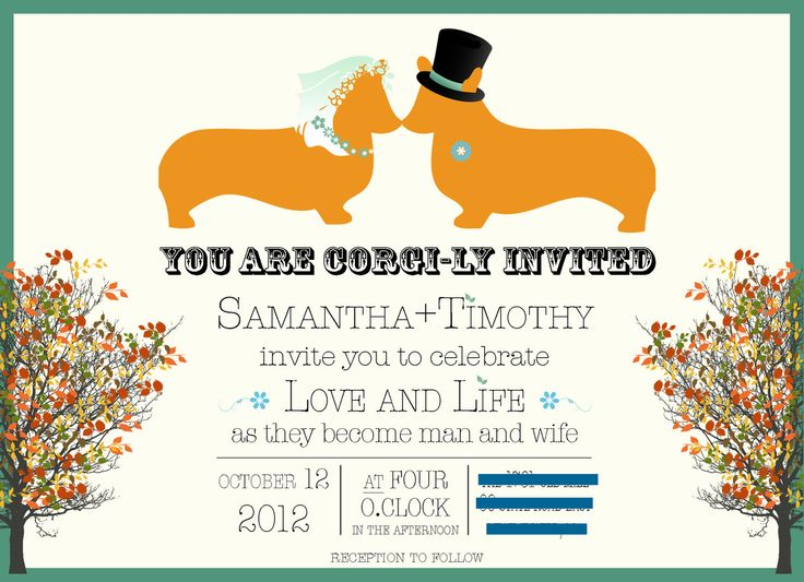 Corgi invites!!: Corgi Wedding, Corgi Invites, Corgis Gonna, Wedding Ideas, Corgi Invitation, Wedding Invitations, Corgially Invited, Dog Stuff