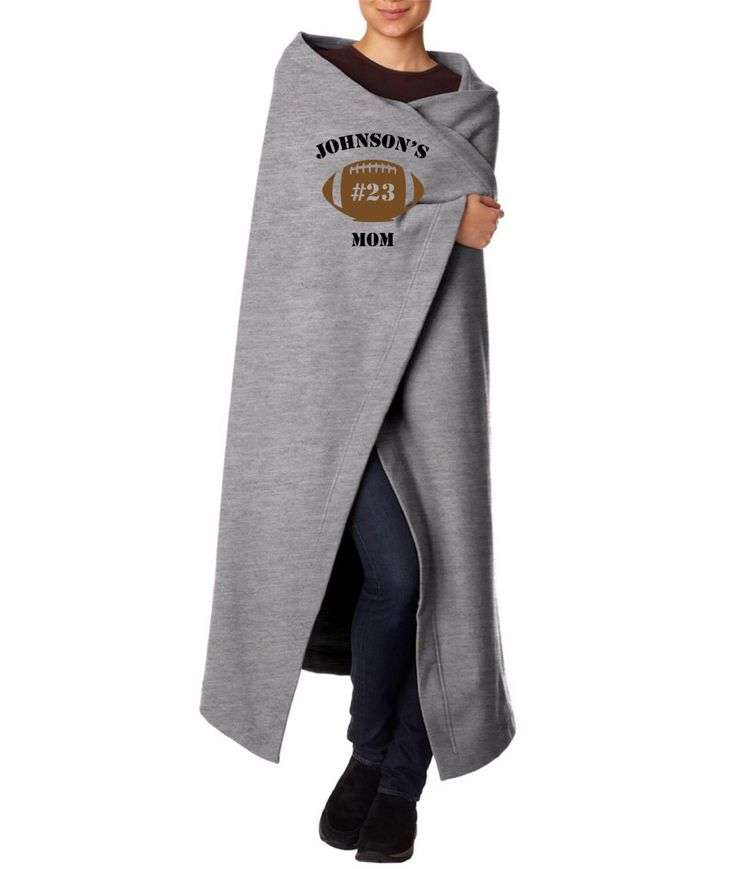 Personalized Football Mom Stadium Blanket / Throw Blanket by PinkPigPrinting on Etsy https://www.etsy.com/listing/202731457/personalized-football-mom-stadium