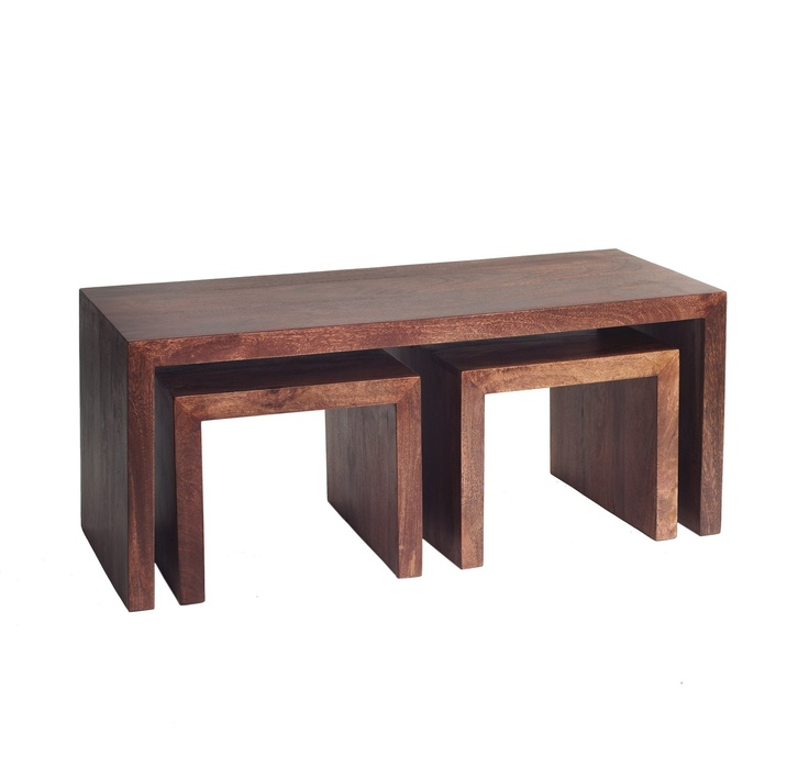 Toko Set of 3 Dark Mango Wood Long John Coffee Tables. 13 best Nest of Tables images on Pinterest   Nests  Coffee tables