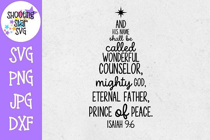 Bible Verse Hand Lettered SVG Silhouette svg Cricut svg Christmas SVG Isaiah 9:6 SVG