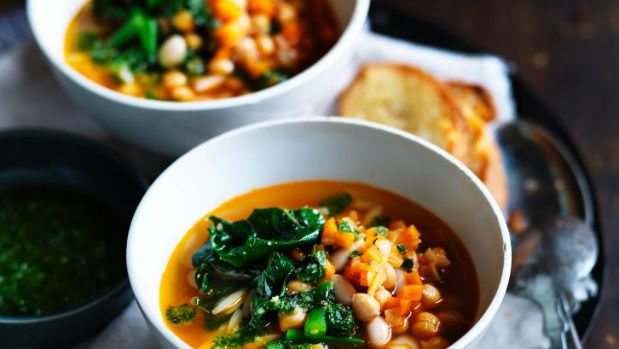 Minestrone soup is a traditional favourite.