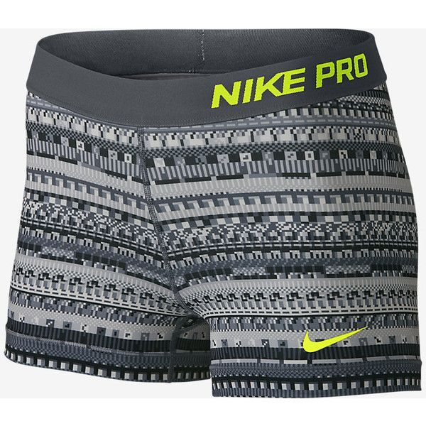 "Nike Pro 3"" 8 Bit Women's Training Shorts. Nike.com (300 SEK) ❤ liked on Polyvore featuring activewear, activewear shorts, nike, nike sportswear and nike activewear"