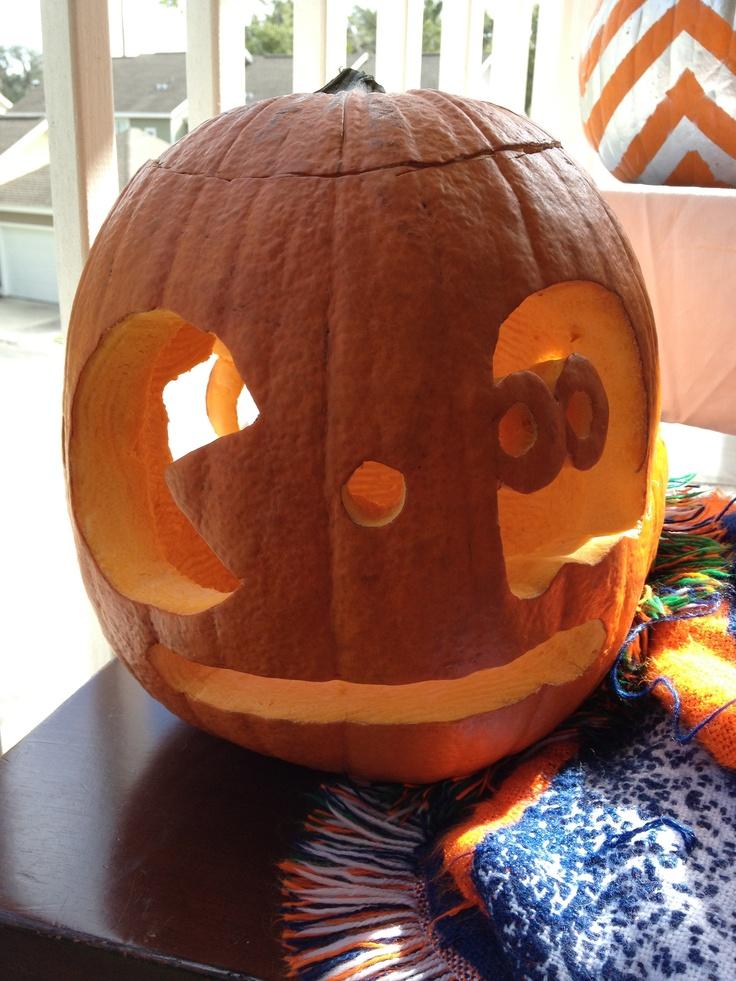 Hector's Pac Man Pumpkin!