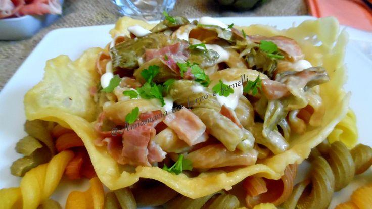 Pasta+ortolana+carciofi+e+speck