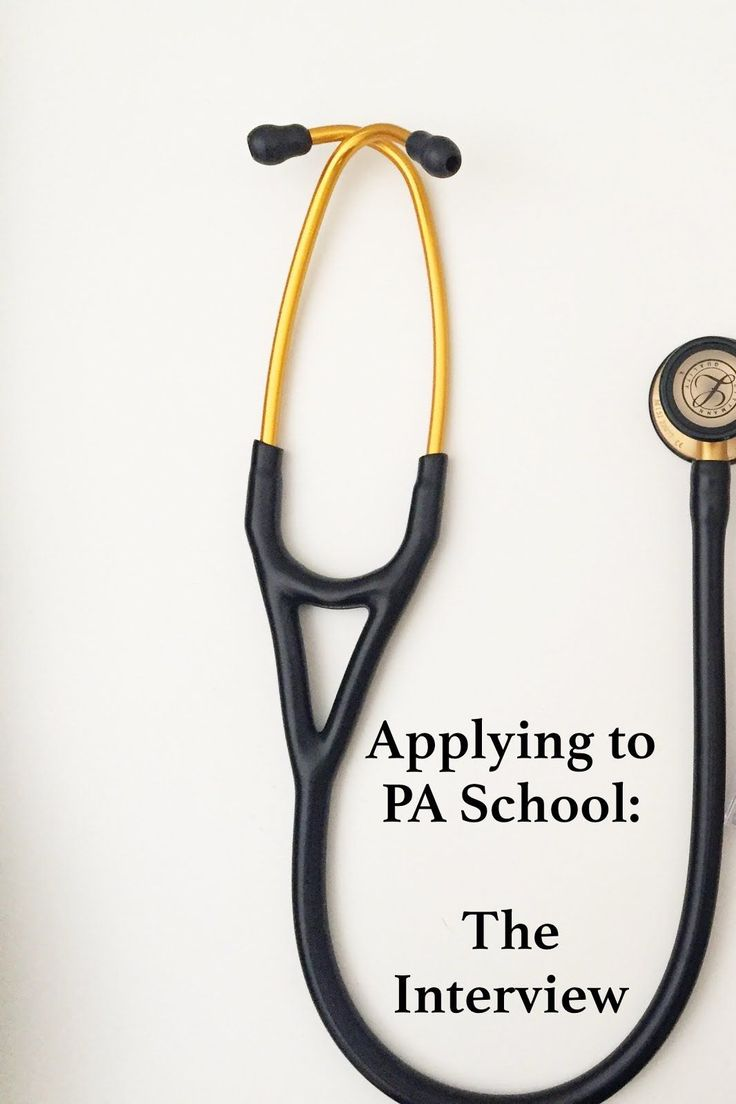 Applying to Physician Assistant School - The Interview