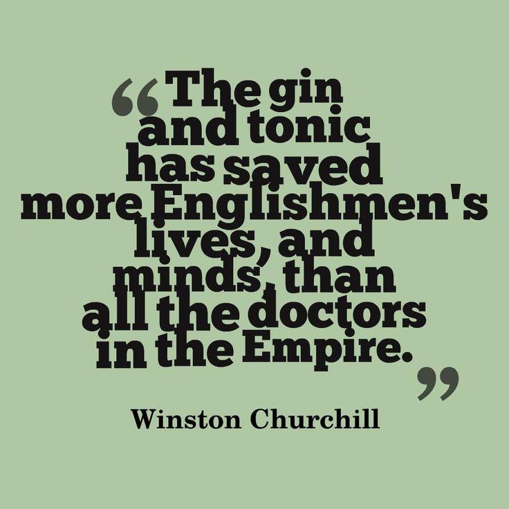 Winston Churchill on Gin.