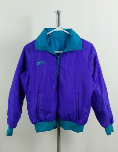 Columbia Sportswear Reversible Jacket Womens teal purple