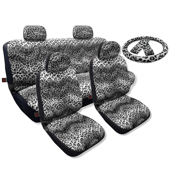 Unique Seat Covers Sedan Set Front Pair Bench Steering Leopard- Chevy Cobalt (Blue) (Color)