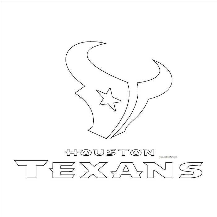 Nfl Logo Coloring Pages Printable Houston Texans Houston Texans