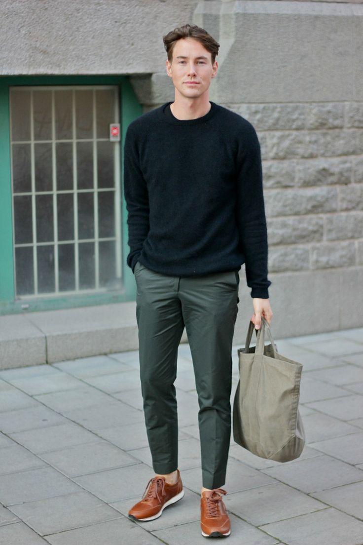 Combinazione Abbigliamento Uomo In Stile Casual Con