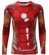 Avengers Age of Ultron Iron Man Armor t shirt long sleeve MK 45 red armor iron man costume