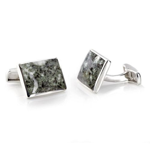 These beautiful, stylish cufflinks set with highly polished Bluestone, a collective name given to the smaller stones at Stonehenge are crafted in Silver and finished off with a swivel post fitting to the back.  http://www.english-heritageshop.org.uk/jewellery/watches-and-cufflinks/stonehenge-bluestone-cufflinks