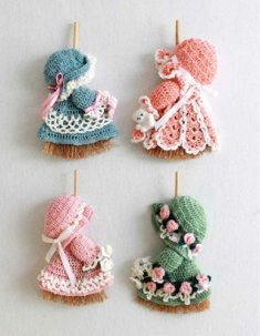 Mini Broom Dolls 1 Crochet Pattern Leaflet [L011] - $6.95 : Maggie Weldon, Free Crochet Patterns