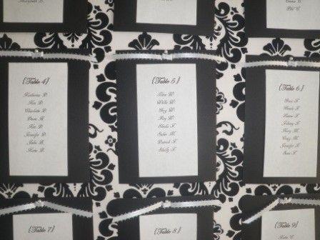かっこいい!結婚式のスタイリッシュなモノトーンの席次表のまとめ一覧♡