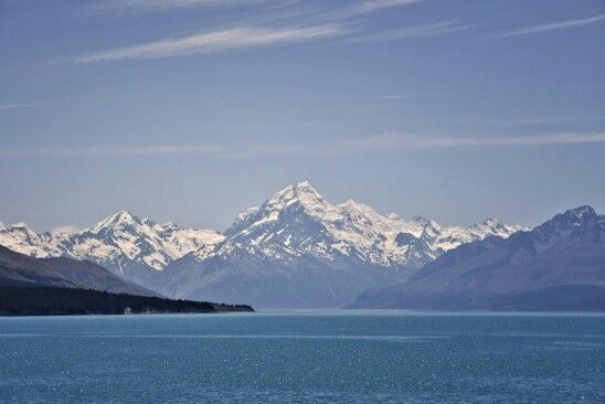 Mount Cook, from the shores of Lake Pukaki NZ on New Year's Day 2016.