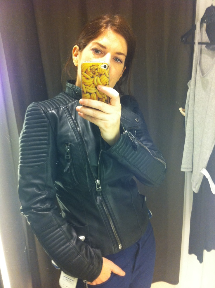 obsessed with this biker jacket I spotted today (and bought, it's from Zara)