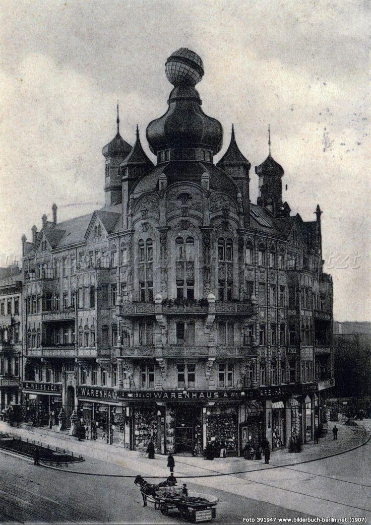 Historische Fotos : Warenhaus A. Weiss, Schöneberg 1907