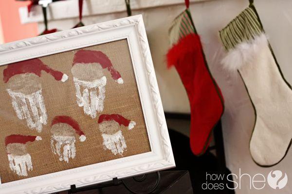 Hand print Santa's! Annual family tradition?
